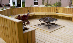 interlocking vinyl decking material